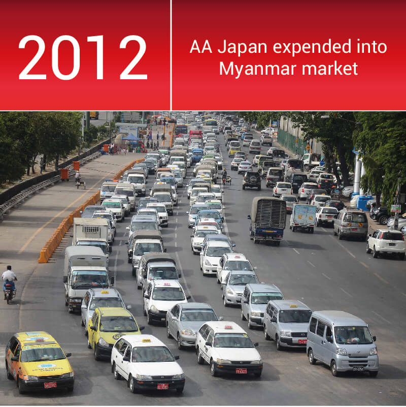 Myanmar became a very important market for car exporters
