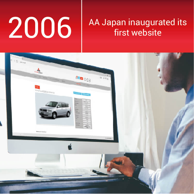 Al Ain Co. creates its first website, started transitioning to AA Japan